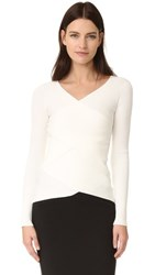 Bailey 44 Bailey44 Reversible Ribbed Crossover Sweater Cream