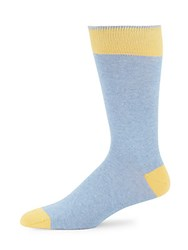 Saks Fifth Avenue Cotton Blend Colorblock Socks Yellow