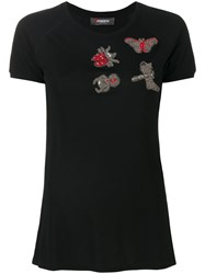 Jo No Fui Embellished Detail T Shirt Cotton Polyamide Polyester Glass S Black