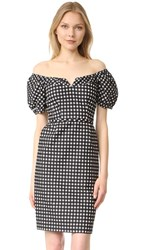 Nanette Lepore Cheeky Check Dress Black Ivory