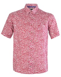 Double Two Men's Bar Harbour By Casual Shirt Red
