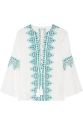 Talitha Noor Embroidered Cotton Blend Voile Tunic