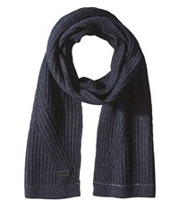 John Varvatos Plated Rib Scarf Midnight Scarves Navy