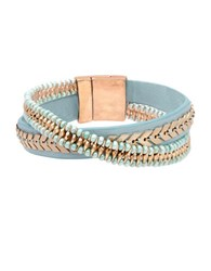 Lonna And Lilly Leather Flex Bracelet Green
