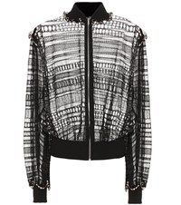 Alexander Mcqueen Silk And Cotton Blend Cardigan Black