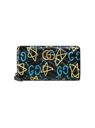 Guccighost Wallet Women Leather One Size Black