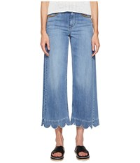 Red Valentino Stone Washed Scallops Embroidery Pants Light Blue Denim Women's Jeans