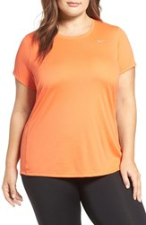 Nike Plus Size Women's 'Miler' Dri Fit Extended Short Sleeve Top