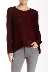 Philosophy Fuzzy Split Back Sweater Petite Red