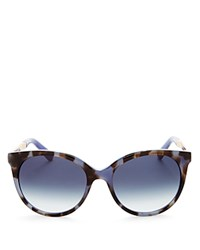 Kate Spade New York Amaya Cat Eye Sunglasses 53Mm Blue Havana Gold Navy Gradient