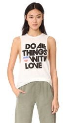 Spiritual Gangster All Things Love Festival Tank Cream