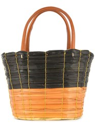 Sensi Studio Handwoven Handbag Brown