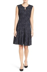 Nic Zoe Petite Women's Tweed Jacquard Fit And Flare Dress