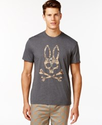 Psycho Bunny Grande Bunny Crew T Shirt Anthracite