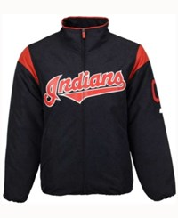 Majestic Cleveland Indians Men's On Field Thermal Jacket Navy Red