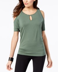 Thalia Sodi Embellished Cutout Top Created For Macy's Blooming Cactus