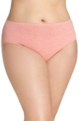 Nordstrom Plus Size Women's Lingerie Seamless Briefs Pink Blossom Heather