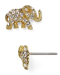 Kate Spade New York Pave Elephant Stud Earrings Gold