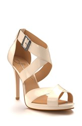 Shoes Of Prey Women's Cross Strap Sandal Biscuit Patent