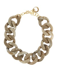 Alisha.D Marble Link Necklace Taupe
