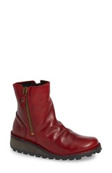 Fly London Mong Boot Red