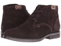 Blondo Gustave Waterproof Coffee Suede Men's Zip Boots Brown