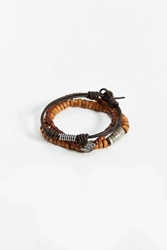 Urban Outfitters 3 Mixed Brown Bead Bracelet Set