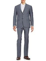 Michael Kors Wool And Mohair Suit Set Blue Grey