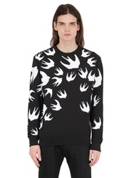 Mcq By Alexander Mcqueen Swallow Printed Cotton Sweatshirt
