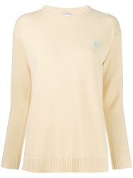 Loewe Long Sleeved Knit Top Yellow