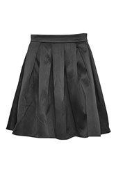 French Connection Juliet Satin Flared Skirt Black