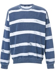 Hl Heddie Lovu Striped Sweatshirt Cotton Blue