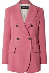 Derek Lam Oversized Double Breasted Stretch Crepe Blazer Pink
