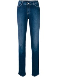 Emporio Armani Faded Tapered Jeans Blue