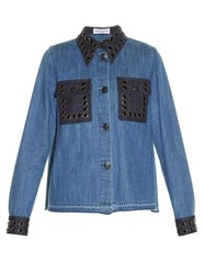 Sonia Rykiel Stone Embellished Denim Shirt