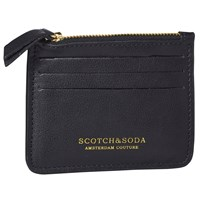 Scotch And Soda Leather Credit Card Holder Black