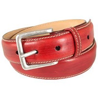 Manieri Red Smooth Leather Belt