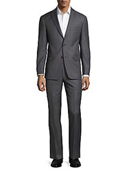 Michael Kors Notch Lapel Wool Suit Grey