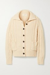 The Great Cable Cotton Blend Cardigan Cream