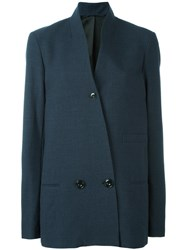 Christophe Lemaire Double Breasted Jacket Blue