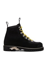 Off White Cordura Hiking Boots Black