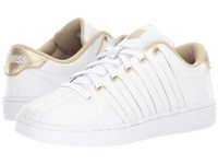 K Swiss Court Pro Ii Sp Cmf White Champagne Women's Lace Up Casual Shoes Metallic