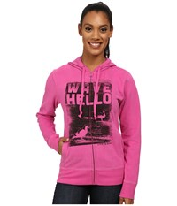 Life Is Good Go To Zip Hoodie Hot Fuchsia Women's Sweatshirt Red