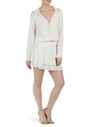 Paige Lemay Tiered Blouson Dress White