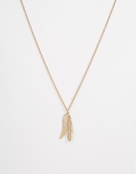 Asos Gold Feather Necklace