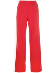 Unravel Project Side Stripe Track Trousers Red