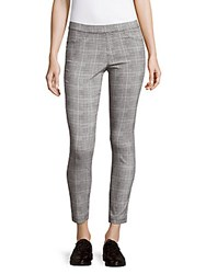 Saks Fifth Avenue Red Cropped Plaid Pants Black
