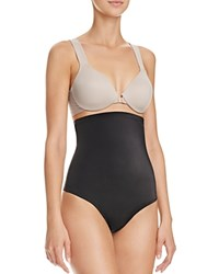 Tc Fine Shapewear Intimates High Waisted Moderate Control Thong 4138 Black