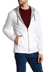 Kenneth Cole Reversible Front Zip Hoodie White