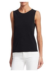 Saks Fifth Avenue Collection Sleeveless Shell Top White Black Navy Night